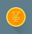 flat abstract japanese yen symbol icon vector image vector image