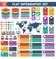 Flat infographic elements set vector image