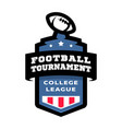 football college tournament emblem logo vector image vector image