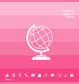 globe icon symbol vector image vector image