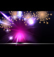 glossy fireworks background vector image vector image