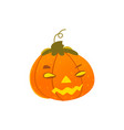 halloween pumpkin lantern with light inside vector image vector image
