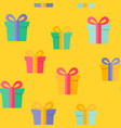 happy birthday party seamless pattern background vector image vector image