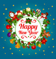 happy new year decoration greeting card vector image vector image