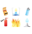 Icons for fire vector image vector image