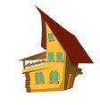 isolated cartoon house vector image
