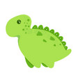 little dinosaur and lettering roooaar vector image vector image
