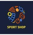 logo sport shop vector image