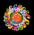 mandala ornament colorful pattern for your design vector image vector image