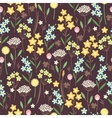 Meadow flowers seamless pattern vector image vector image