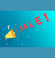 midnight sale announce with megaphone vector image vector image