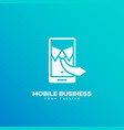 mobile business logo vector image vector image