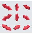 moders set isometric arrows vector image