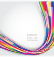 multi colored geometric abstract background with vector image vector image