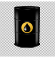 oil barrel with drop vector image vector image