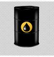 Oil barrel with drop vector image