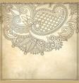 Ornamental floral pattern vector image vector image