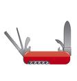 pocket knife vector image vector image