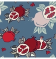 pomegranate seamless background vector image vector image
