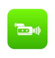 retro camera icon digital green vector image vector image