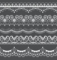 retro lace seamless pattern set white decoration vector image vector image