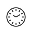 round wall clock line style isolated icon vector image