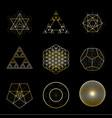 sacred geometry golden design elements vector image vector image