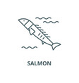salmon line icon linear concept outline vector image vector image