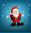 santa claus with a raised hand vector image vector image