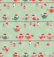 seamless birds christmas pattern background vector image