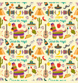 seamless pattern the theme of the mexican vector image