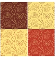 Seamless patterns with cockleshells vector image vector image