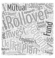 Secure Your Retirement with a Rollover IRA text vector image vector image