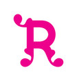 sign of the letter r vector image