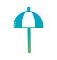 silhouette umbrella open style to weather vector image vector image