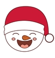 Snowman cartoon of Merry Christmas vector image vector image
