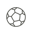 soccer ball icon line football symbol vector image