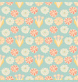 soft pastel retro floral blue and yellow vintage vector image