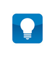 square with lightbulb icon logo element vector image vector image