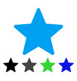 star flat icon vector image vector image