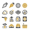 sugar beet icon set vector image vector image