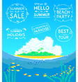 Summer calligraphic stamps vector image vector image