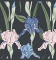 summer iris blossom print modern bloom botany vector image vector image