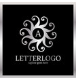 sun heart abstract logo letter a in middle luxury vector image vector image