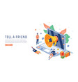 tell a friend website template web page vector image