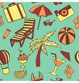 Travel touristic seamless pattern for fabric vector image