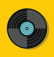 vinylin flat style with shadow vector image vector image