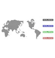worldwide map in dot style with grunge caption vector image