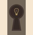 Ideas inside Keyhole vector image