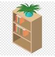 Bookcase isometric 3d icon vector image